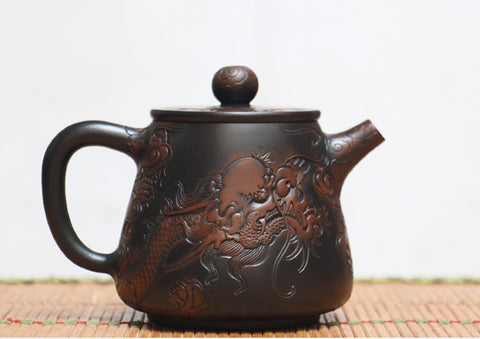 "Jian Shui Clay ""Dragon 1#"" High Shi Piao Teapot by He Shang * 270ml"