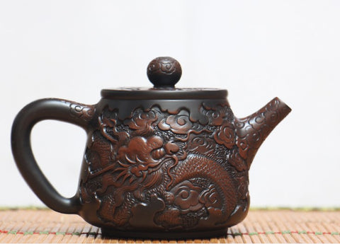 "Jian Shui Clay ""Dragon 2#"" High Shi Piao Teapot by He Shang * 230ml"