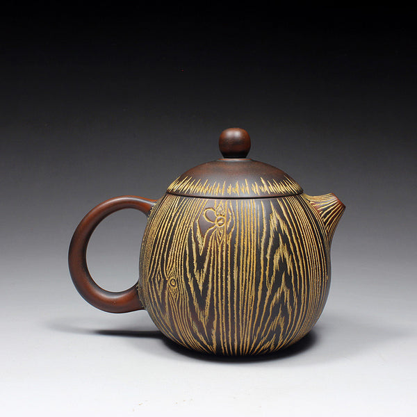 "Qin Zhou Clay Teapot ""Tree Bark Dragon Egg"" by Hu Ying Jia"