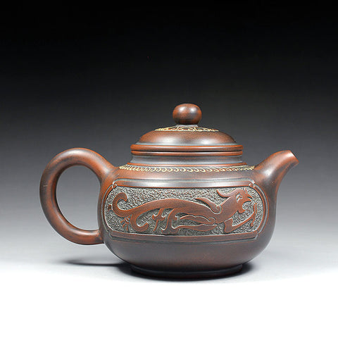 "Qin Zhou Clay Teapot ""Phoenix and Dragon"" by Hu Ying Jia"