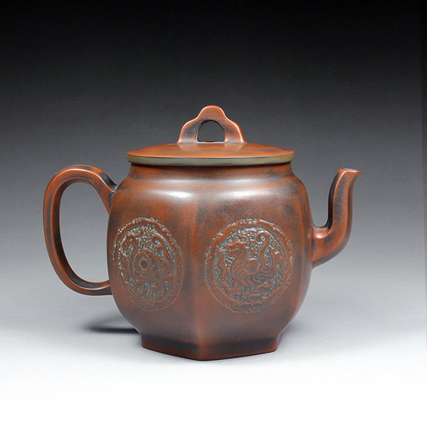 "Qin Zhou Nixing Clay Teapot ""Four Spirits"" by Hu Ying Jia"