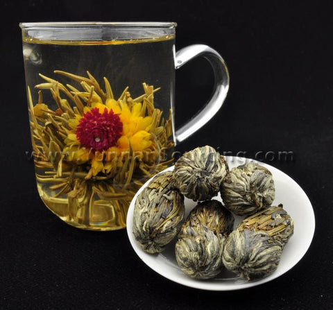"Blooming Tea Balls ""Pearls from the Dragon's Mouth"" Hand Crafted Flowering Tea"