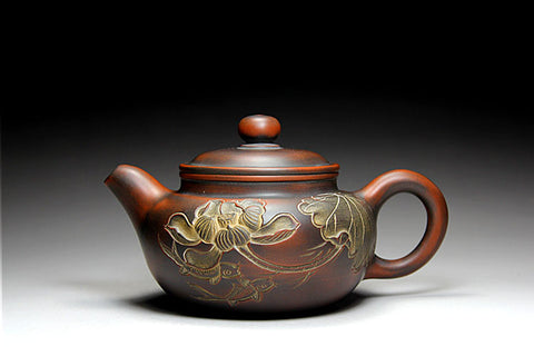 "Qin Zhou Clay Teapot "" Fang Gu "" by Hu Ying Jia * 180ml - Yunnan Sourcing Tea Shop"