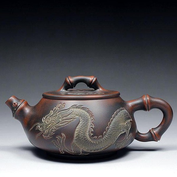 "Qin Zhou Clay Teapot ""Dragon"" by Lu Ji Zu * 260ml - Yunnan Sourcing Tea Shop"
