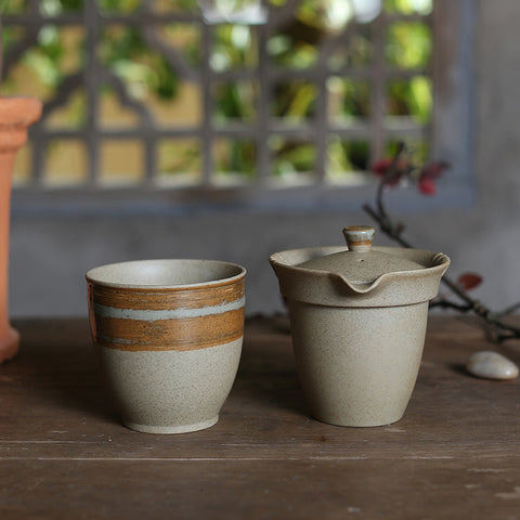 Easy Gaiwan Duan Ni Clay Gaiwan with Cup