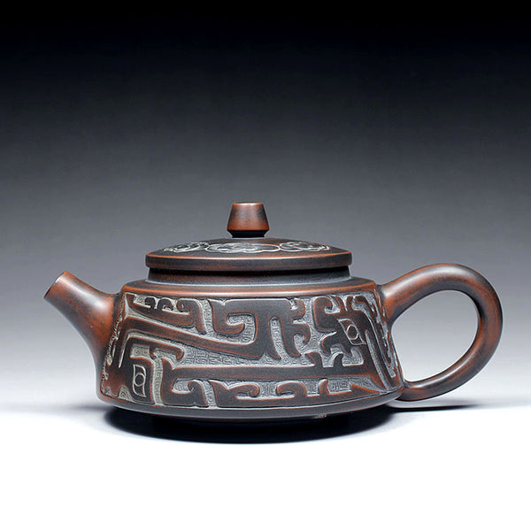"Qin Zhou Clay Teapot ""Overlord"" by Hu Ying Jia * 150ml - Yunnan Sourcing Tea Shop"