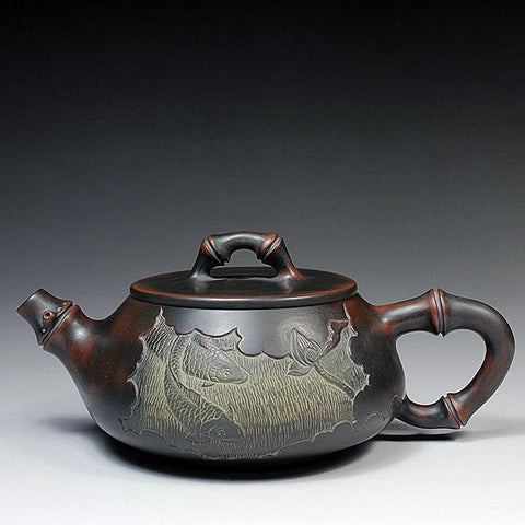"Qin Zhou Clay Teapot ""Shi Piao"" by Lu Ji Zu * 260ml - Yunnan Sourcing Tea Shop"