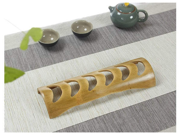 Hand-Made Bamboo Cup Holder * Holds 6 Cups