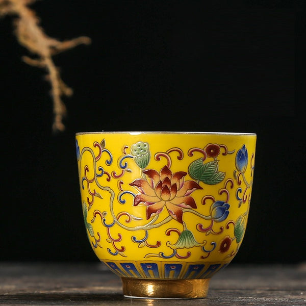 "Fo Shan Style ""Royal Yellow Mudan"" and 999 Silver Cup * 65ml"