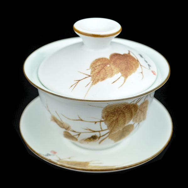 Autumn Leaves Porcelain Gaiwan of Jingdezhen * 150ml