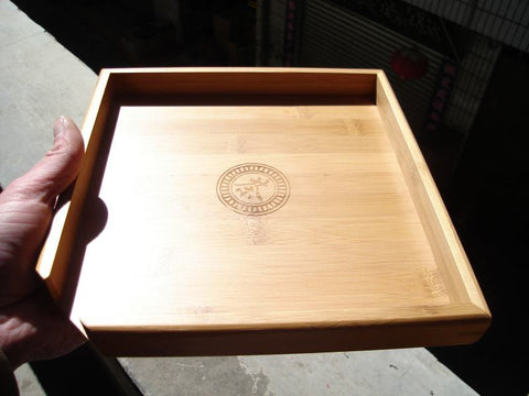 Bamboo Tray for Chiseling Away at your Pu-erh tea cake