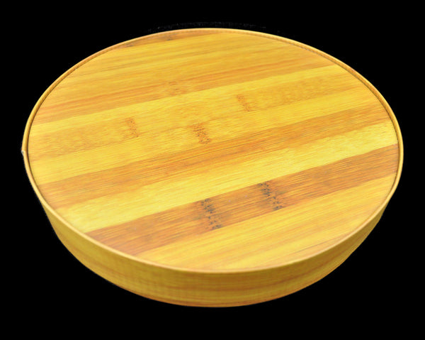 Faux Bamboo Round Slip Cover Pu-erh Tea Cake Container