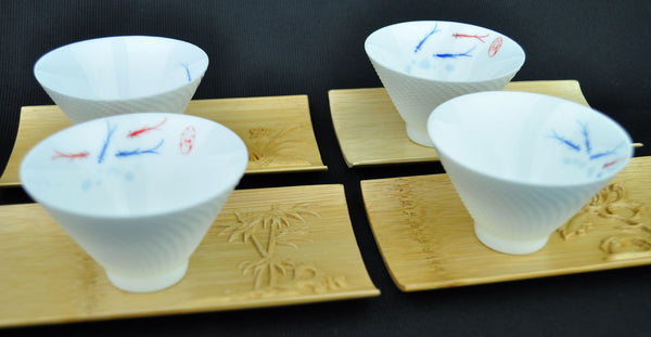 Pure Bamboo Coasters for Tea Ceremony * Set of 4