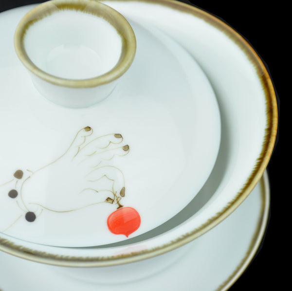 Peach of Immortality Large Ceramic Gaiwan 230ml
