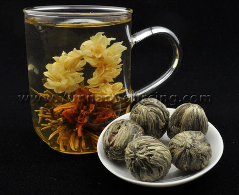 "Blooming Tea Balls ""Blissful Love"" Hand Crafted Flowering Tea"