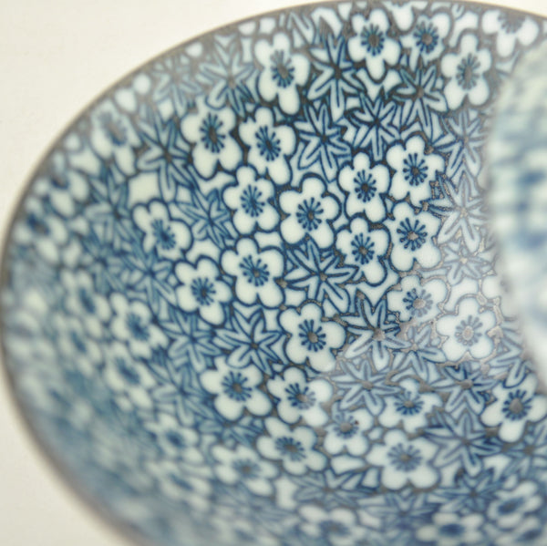 "Blue on White ""Plum Blossoms"" Porcelain Cups from Jingdezhen * Set of 2"