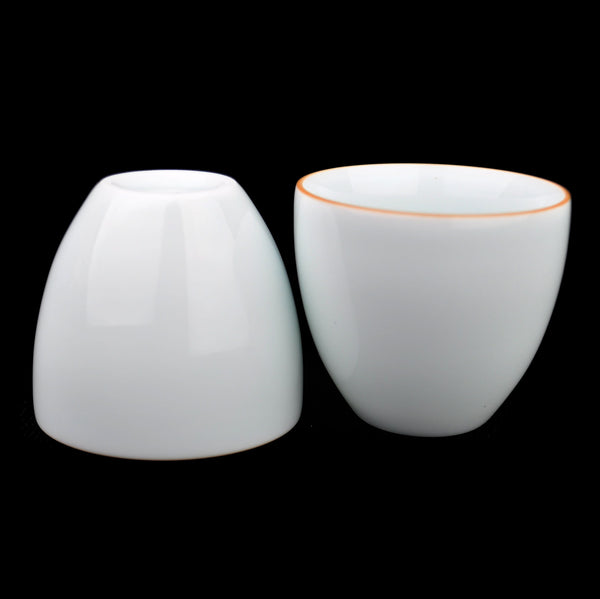 "Jingdezhen Porcelain ""Cloud Lining"" Cups for Tea * Set of 2 - Yunnan Sourcing Tea Shop"