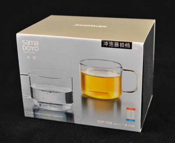 SAMA CP-02 Set of 2 Glass Tea Cups * 150ml each