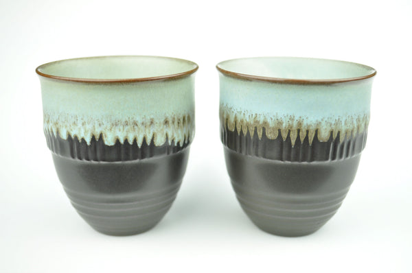 "Drip Glazed ""Classic"" Ceramic Cups 135ml * Set of 2"