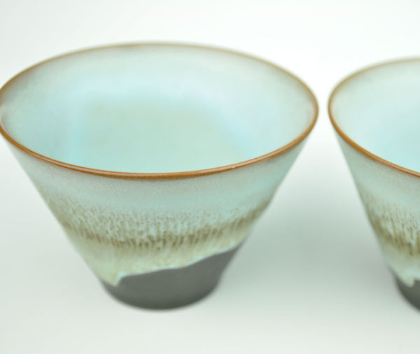 "Drip Glazed ""Modern"" Ceramic Cups 85ml * Set of 2"