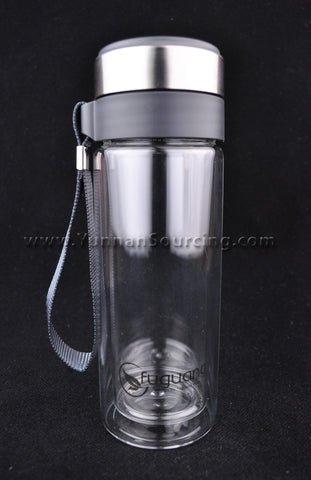 Portable Tea Thermos Heat-Tempered Double Layer Glass * 280ml