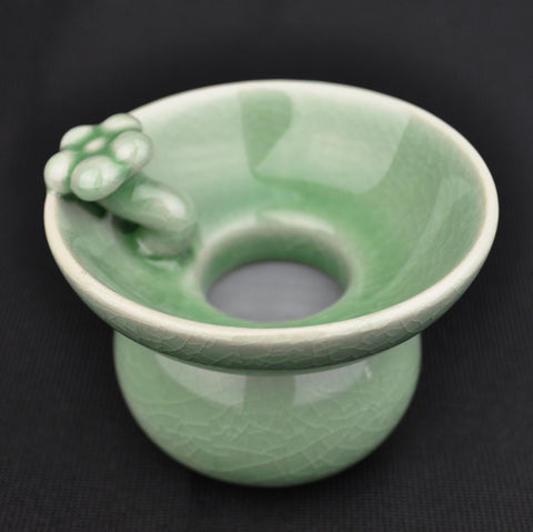 Celadon Glazed Ceramic Green Flower Petals Strainer