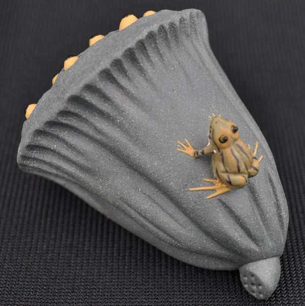 Frog on Lotus Pod Squirting Tea Mascot