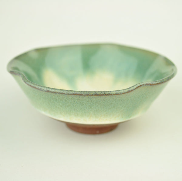 Green Glazed Yixing Clay Bowl-Shaped Cups * Set of 2