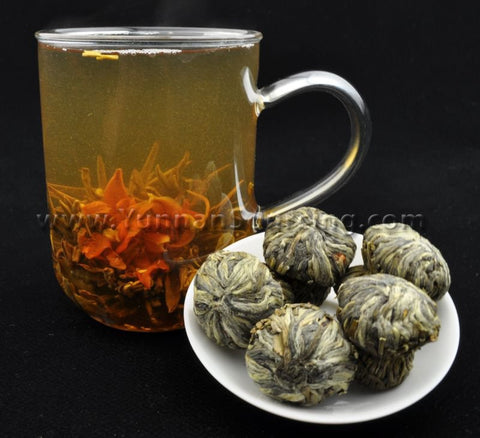 "Blooming Tea Balls ""Heady Fragrance"" Hand Crafted Flowering Tea"