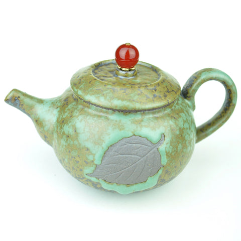 "Glazed Clay ""Tea Leaf"" Teapot * 190ml"