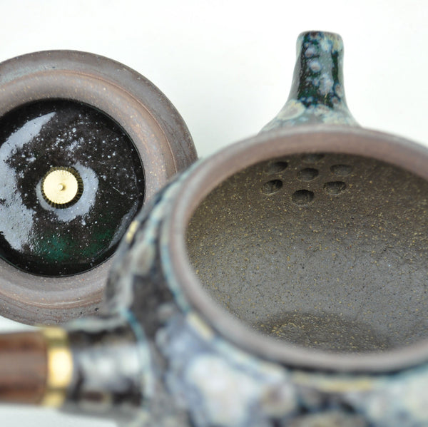 "Glaze on Clay ""Oxide Blue"" Kyusu Teapot * 175ml"