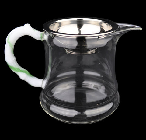 Jade Handle Glass Cha Hai with Clip In Strainer * 350ml