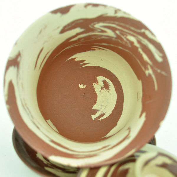 "Jian Shui Pottery ""Swirled Black and White Clay"" Gaiwan 190ml"