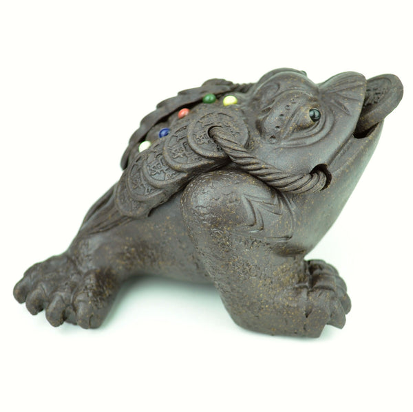 "Yixing Clay ""Big Dipper Jin Chan"" Tea Mascot Statue for Gong fu Cha tea table"