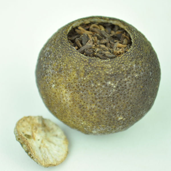 Gong Ting Ripe Pu-erh Tea Cured in King Orange