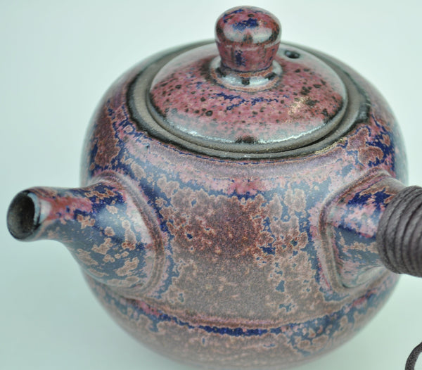 Kyusu Style Purple Blue Glazed Ceramic Teapot * 230ml