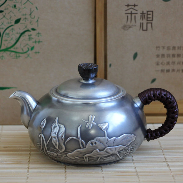"Pure Silver 999 ""Lotus Flower"" Teapot * 200ml"