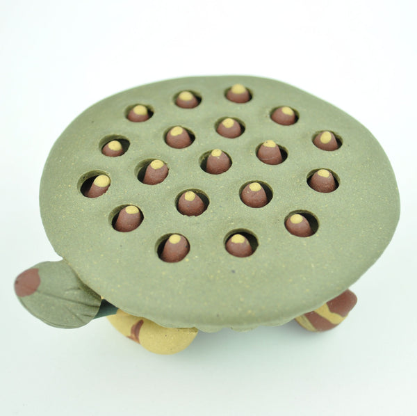 """Lotus Pod"" Yixing Clay tea statue"