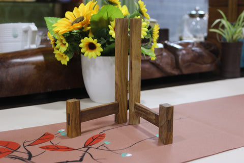 Premium Wood Stand for Pu-erh Tea Cake Presentation