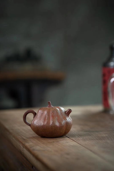 "Pink Duan Ni and Purple Clay ""Pumpkin"" Teapot"