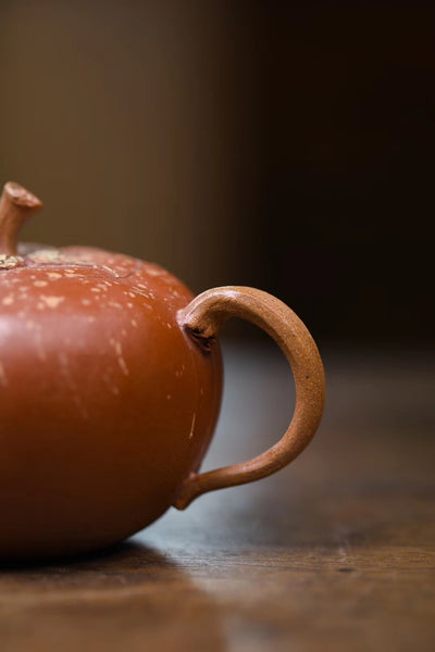 "Pink Duan Ni and Zhu Ni Clay ""Tomato"" Yixing teapot * 135ml"