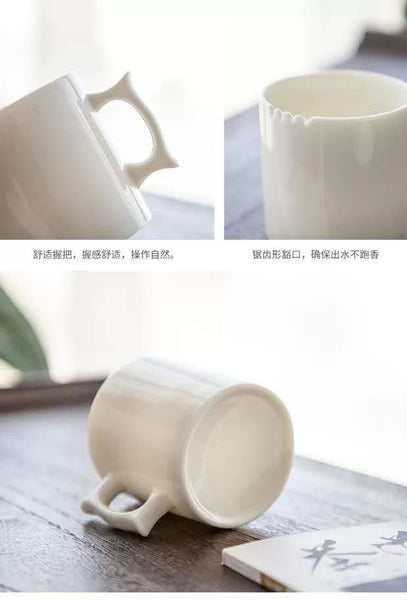 Competition Tasting Set Made from White Porcelain