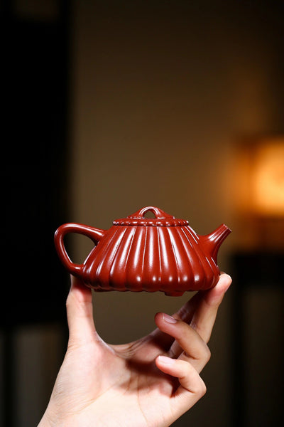 "Supreme Da Hong Pao Clay ""Jin Wen Shi Piao"" Teapot by Chen Jun"