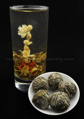 "Blooming Tea Balls ""Offering"" Hand Crafted Flowering Tea"
