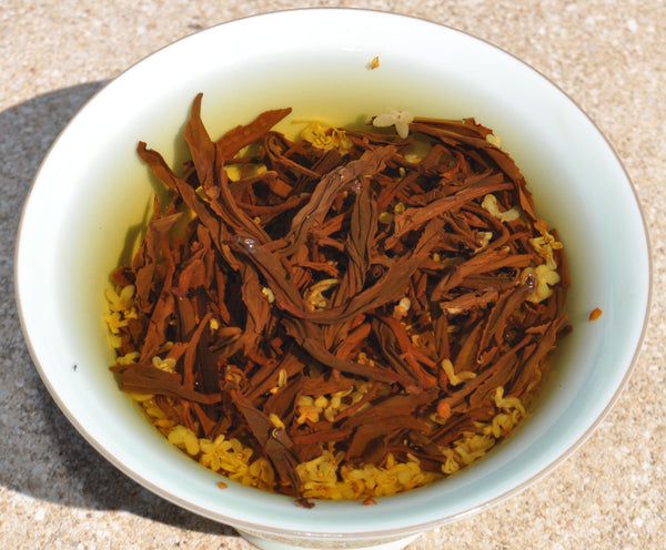 Osmanthus Flower and Yi Mei Ren Black Tea Dragon Ball