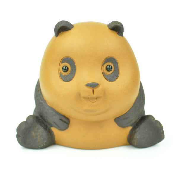 Yellow and Black Panda Tea Mascot for Gong Fu Tea