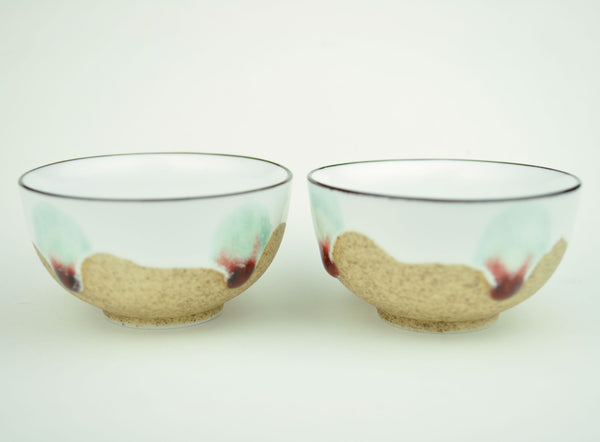 Peacock at the Beach Cups * Set of 2 * 60ml each