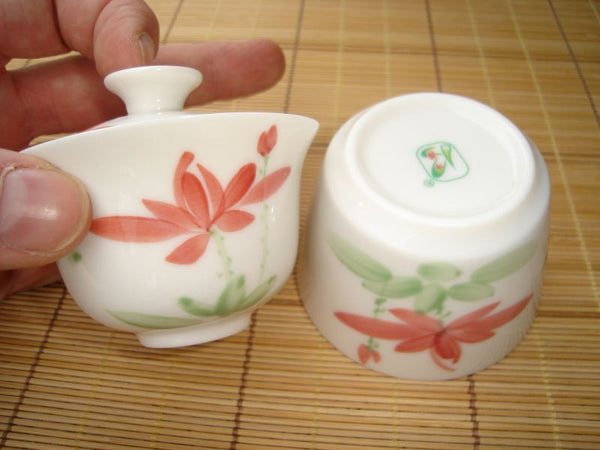 Lotus Flower * Portable Tea Set * Gaiwan, Pitcher, cups