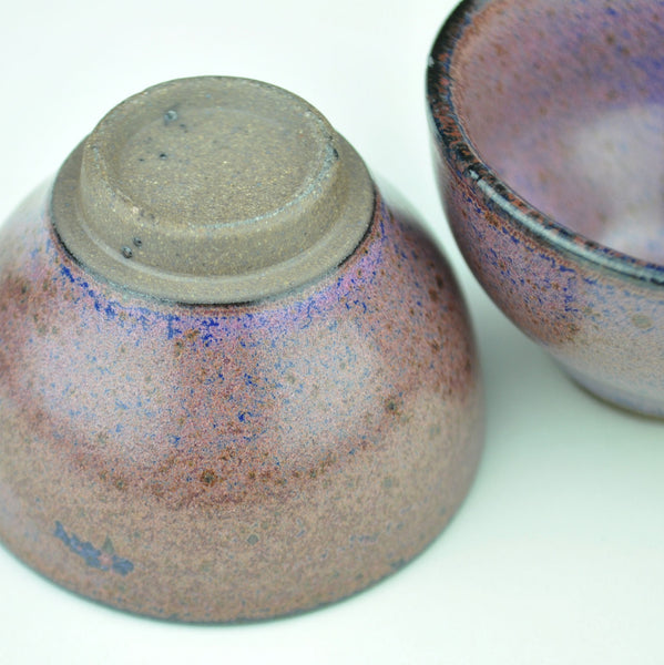 Purple and Blue Glazed Cups * Set of 2 * 60ml each