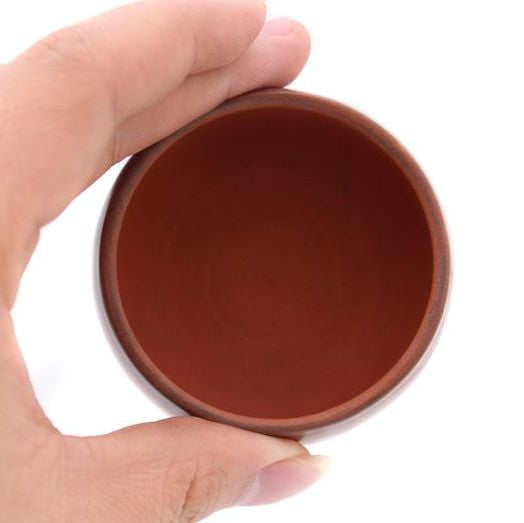 Swirled Red and White Jian Shui Tea Cups * Set of 2 * 70ml